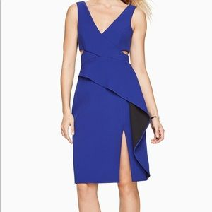 Bcbgmaxazria Riya Cutout Peplum Dress 8 Royal Blue